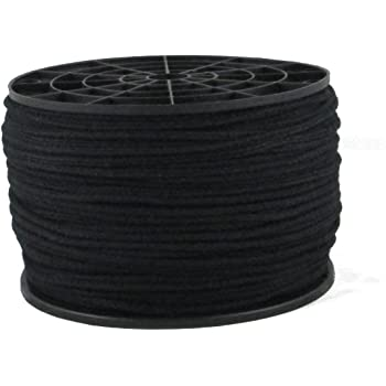 1/8 inch All Black Cotton Tie Line/Theater Cord - 600 Foot Spool   Reinforced - Low Stretch - Unglazed