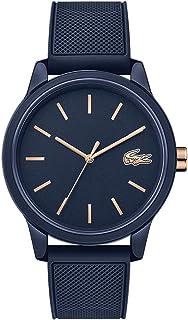 ساعة يد بمينا ازرق وسوار سيليكون ازرق للرجال من لاكوست - 2011011