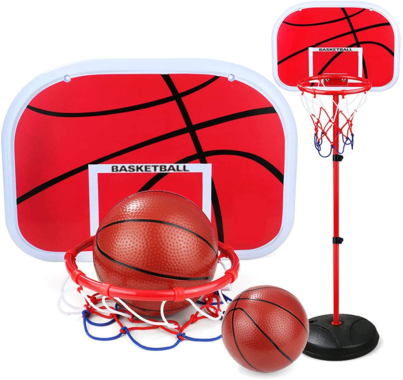 a la venta Byx- Juguetes - Bastidor de Tiro para Interiores Interiores Interiores Marco de Baloncesto para el hogar - Levantamiento Ajustable - 160 cm -Juguetes (Color   B - with Two basketballs)  Más asequible