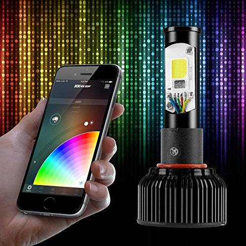 H4 2in1 LED Headlight Bulb Kit - XKchrome Smartphone App-enabled Bluetooth RGB Devil Eye + LED Headlight Conversion