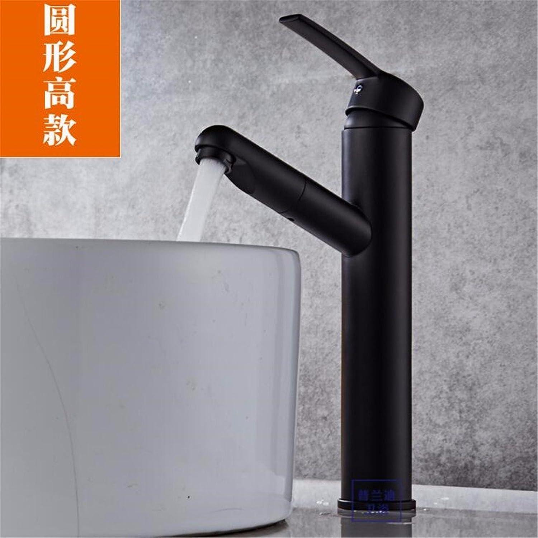 Bijjaladeva Antique Bathroom Sink Vessel Faucet Basin Mixer Tap Tap the full Copper black single handle single hole sit-in A