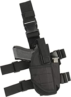 Drop Leg Holster for Pistol- Right Handed Tactical Thigh Airsoft Pistol Holster with Magazine Pouch Adjustable Gun Holster fits 1911 Glock Walther Beretta