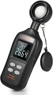 BDMETER Digital Light Meter, Multifunctional Handheld Illuminance Meter Temperature Measurer with Range up to 200,000 Lux Luxmeter LCD Screen