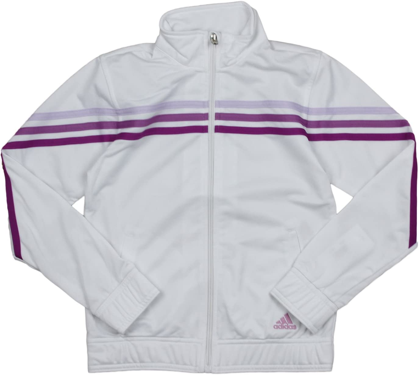 adidas Girls (Youth 7-16) Pursuit Full Zip Striped Track Jacket