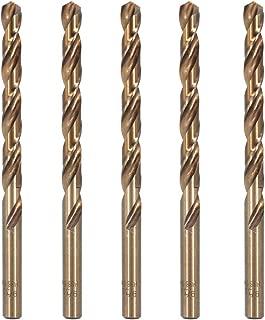 Hymnorq M35 Cobalt Steel Fractional 9/32 Inch Dia. x 4.25 Inch Long Twist Drill Bit Set of 5pcs, Jobber Length Round Shank, Self-centering Split Point, Heat Resistant for Metalworking
