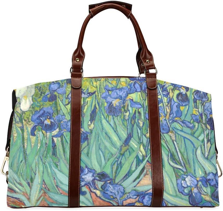 Man Travel Bag Vincent Van Gogh Cheap Painting A Growing Irises New life In Gar