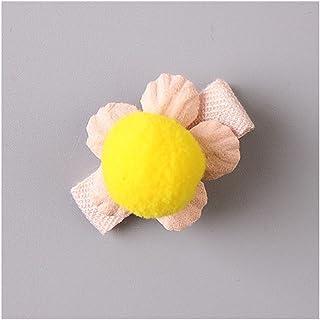 Osize 美しいスタイル 小さな花のヘアクリップ子供のかわいいサイドクリップヘアピンフラワーヘッドドレス(イエロー)