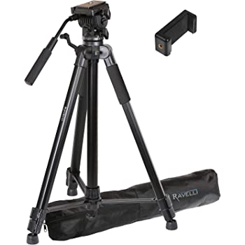 Professional Dual Handle Aluminum 67 Tripod for Leica V-LUX 3 Bubble Level