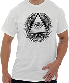 Illuminati Freemason Providence Triangle T Shirt Tee