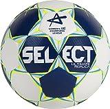 Select Ultimate Replica CL Ballon de Handball pour Femme 2 Bleu/Blanc/Jaune Fluo.