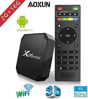 Android TV Box - Smart TV Box with Quad Core X96 Mini Android 7.1 OS Amlogic S905W 4K/HD Media Player 2GB 16GB/WiFi 2.4G X96 Mini TV Box