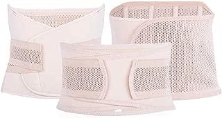 Women 3Pieces Set Maternity Postnatal Belt Belly Bands Waist Corset Slim Shapers Underwear,NET Pattern,XL