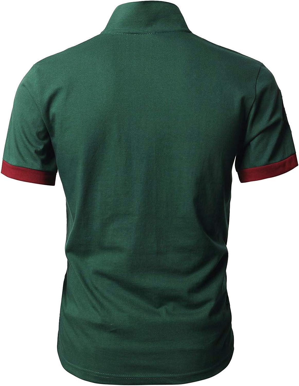 GNRSPTY Poloshirt Herren Kurzarm Polohemd Giraffe Stickerei Einfarbig T-Shirt S-XXL
