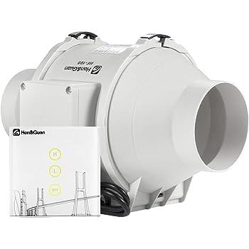 conducto silencioso flujo de aire m/áximo 280 m3//h para ba/ño hidrop/ónicos HG Power Ventilador extractor de ventilaci/ón de 5 pulgadas invernaderos
