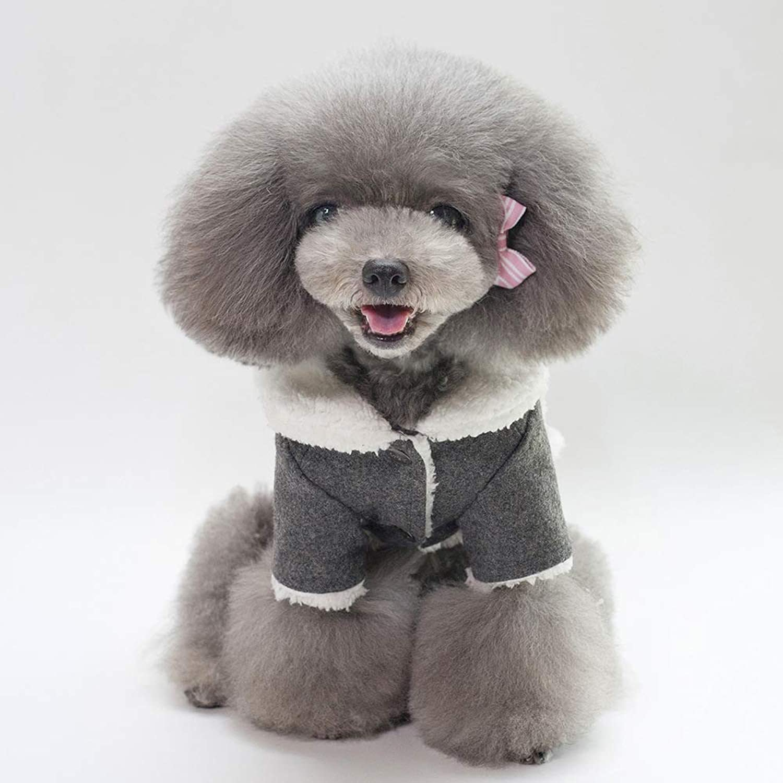 HSDDA Party Pet Costume Pet Supplies Misc Pet dog clothes jacket (color   Dark grey, Size   M) Pet Uniform (color   Dark grey, Size   M)