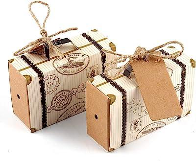 463cf5cb3a17 Amazon.com: VGOODALL 50pcs Mini Suitcase Favor Box Party Favor Candy ...