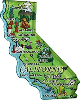 California - Acrylic State Map Refrigerator Magnet