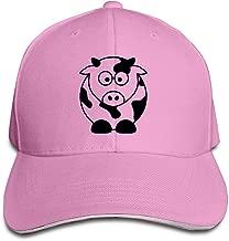 Milk Cow Best Choice Logo Style Hat Sandwich Bill Caps