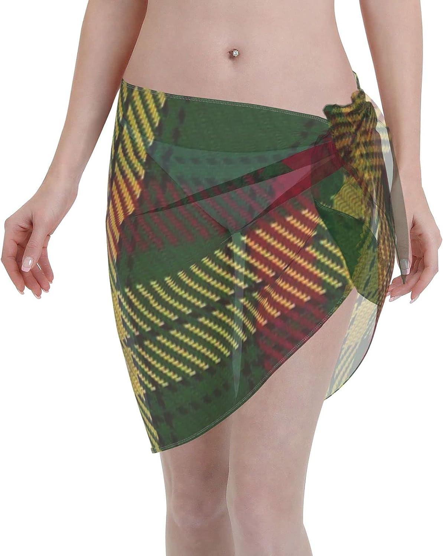 2053 pants MacMillan Ancient ClanFamily Tartan Women Chiffon Beach Cover ups Beach Swimsuit Wrap Skirt wrap Bathing Suits for Women