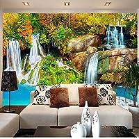 自然の風景カスタム3D壁壁画壁紙スモールクリーク滝リビングルームテレビ背景写真壁紙寝室の壁-150X120CM