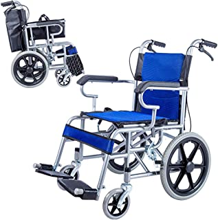 ZZR Multi-Function Foldable Transport Wheelchair with Handbrake 16