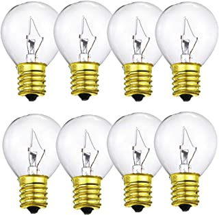 (8-Pack) 25 Watts Replacement Bulb for Lava Lamp for 14.5 Inch Lava Lamps High Temp Resistance, E17 Base-120 Volt,Dimmable - Warm White S11 Bulb
