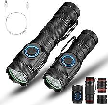 Flashlight 5-Mode Zoom 4X XPG 18650 Rechargeable USB Light Set Torch Riding Light 120x 28x 24mm