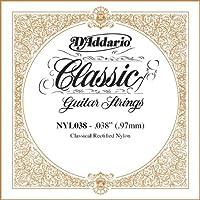 D'Addario ダダリオ NYL038 Rectified Nylon クラシックギター シングルストリング .038 アコースティックギター アコギ ギター (並行輸入)