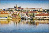 ACCYT nico Praga, Repblica Checa - Castillo reflexionando sobre el Agua 9031181 (Rompecabezas Premium de 1000 Piezas para Adultos 20x30 Hecho en EE. UU.!)