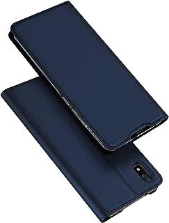 DUX DUCIS Funda Xiaomi Redmi 7A, PU Cuero Flip Folio Carcasa [Magnético] [Soporte Plegable] [Ranuras para Tarjetas] para Xiaomi Redmi 7A (Azul Marino)