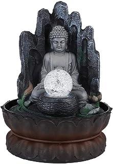 Huakii Fuente de Escritorio LED decoración de Escritorio con Forma de Buda única Adorno de Resina para el hogar con luz...