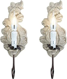 2 candle wall sconce