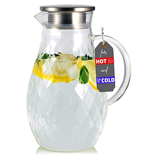 JCPKitchen Borosilicate Glass Pitcher with Lid and Spout
