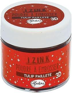 Aladine - Poudre à Embosser Izink Tulip Glitter - Embossing avec Paillettes - Effet Volume 3D pour Scrapbooking et Carteri...