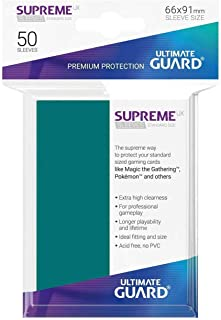 Ultimate Guard UGD010794 Supreme UX Card Sleeves, Standard, Petrol Blue