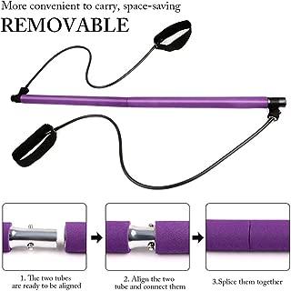 Violet Interlink-UK Corde de Tension Multifonctionnelle,Exerciseur de Tension Jambe 4 Tubes,Sit-up Bodybuilding Expander,Bandes dexercice de r/ésistance de P/édale
