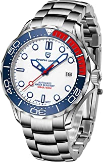 Pagani Design Original Seamaster Reloj para Hombre, Pulsera de Acero Inoxidable con Corona de Rosca y Resistente al Agua h...