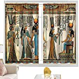 Cortinas y cortinas egipcias, Papyrus Nefertari e Isis W42 x L84 pulgadas cortinas opacas