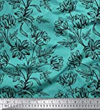Soimoi 20 GSM Floral Printed Designer 44 Zoll breit Reine
