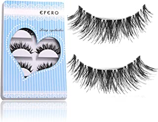 Adeeing False Eyelashes Beauty Makeup Handmade 3D Natural Cross Long Black Fake Eyelashes (5 Pairs/box)