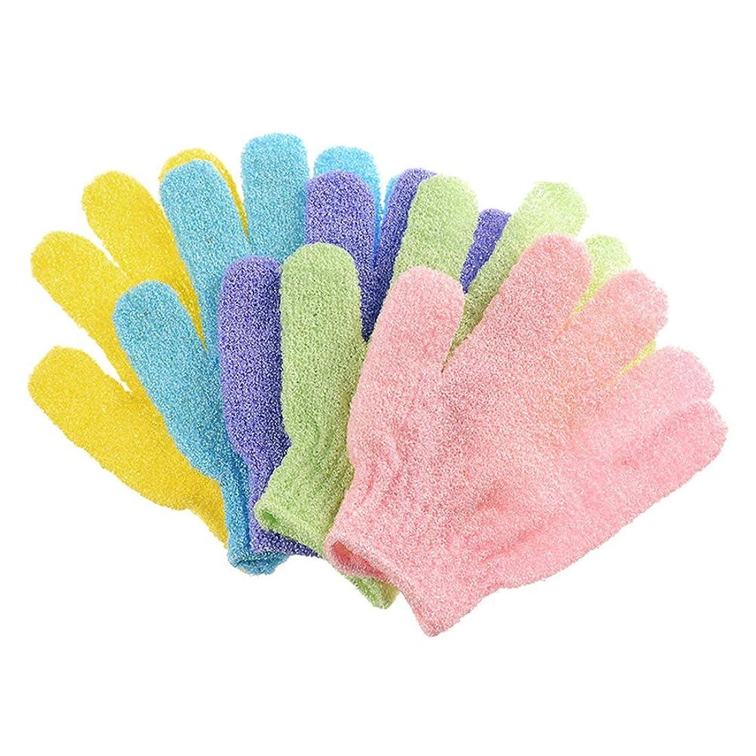 大量間隔コショウTOPBATHY 20ピースバスウォッシュタオル剥離バスクロス手袋バックスクラバーバスクロスタオルボディ用入浴用シャワースパ(混色)