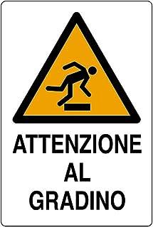 """2 TARGHETTE ADESIVE ISO 7010 /""""ATTENZIONE ALLA TESTA/"""" SEGNALE PERICOLO SICUREZZA"""