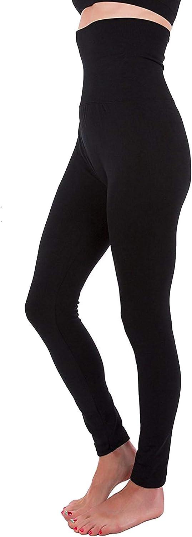 NJ High Waist Fleece 2021 New life model Lined Thick Brushed Legg Tummy-Compression