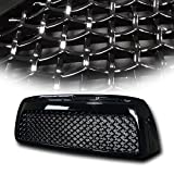 VXMOTOR for 2007-2009 Toyota Tundra Black TR-Sport Mesh Front Hood Bumper Grill Grille Cover ABS