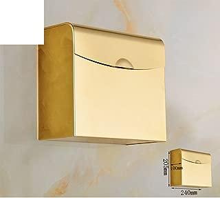 European gold-plated toilet roll holder/ Golden Towel rack/Toilet paper shelf /[Waterproof hand tray]/ sealed box-D