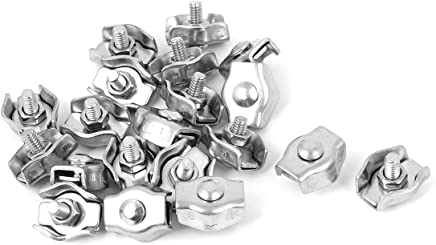 sourcingmap/® M5 5mm Fundas de cable de acero aluminio mangas en tono plateado 80 pcs
