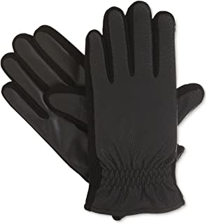 Isotoner Mens Smart Touch Fleece Lined Everyday Gloves Black L