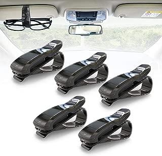 KAFEEK Car Visor Glasses Sunglasses Ticket Clip Holder (Black)