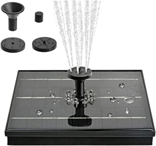 Vinkki Solar Bird Bath Fountain Pump with 8 LED Lights, Free Standing 4W Bird Bath Fountain Water Pump, Outdoor Floating F...