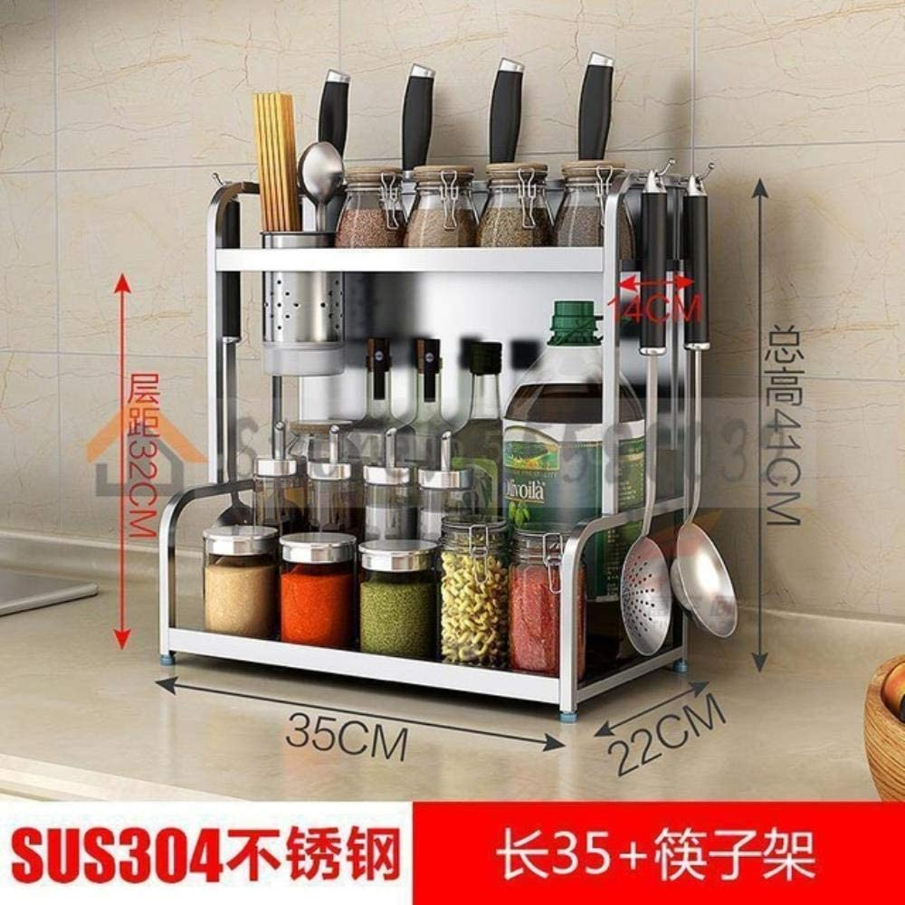 Genric 304 Stainless Steel Kitchen Rapid rise Doubl Max 84% OFF Hanging Rack Floor Wall